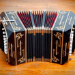 Traditional tango musical instrument, called bandoneon. — Stock Photo