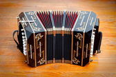 Traditional tango musical instrument, called bandoneon. — Foto Stock