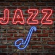 Stockfoto: Jazz neon sign.