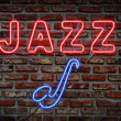 Stock Photo: Jazz neon sign.