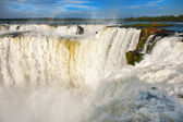 Iguazu falls.View from the argentinian side. — Stock Photo