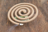 Burning mosquito coil — Stock Photo
