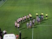 Palermo, İtalya - Ağustos 11, 2013 - bize citta di palermo rakip bize cremonese - tim Kupası — Stok fotoğraf