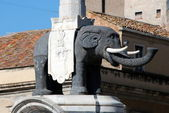 Catania - The statue of the Elephant — Stock Photo