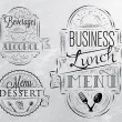 Stock Vector: Elements on the theme of the restaurant business lunch