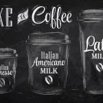 Набор выпивая чашка кофе — Cтоковый вектор
