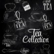 Set of tea collection — Stock Vector