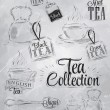 Set of tea collection — Vector de stock
