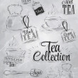 Stock vektor: Set of tea collection