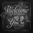 Wedding lettering Welcome to our wedding, you're invited — Stock Vector