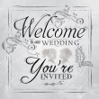 Wedding lettering Welcome to our wedding, you're invited — Stock Vector #29786717