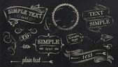 Chalk design elements — Stock Vector