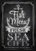 Poster Fish menu — Stock Vector
