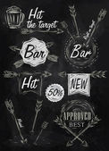 Bar sign — Stock Vector