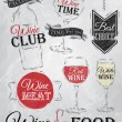 Постер, плакат: Set collection of wine wine club wine red wine white wine glass