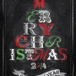 Poster Merry Christmas and New Year — Stock vektor
