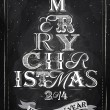 Merry Christmas lettering tree from letters — Stockvektor