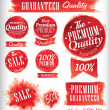 Set of watercolor Old Premium Quality Badges collection — Stock Vector #30824319