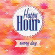 Happy Hour in orange colors — Imagens vectoriais em stock
