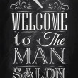Poster Barbershop welcome to msalon — Stock Vector #32894223