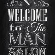 Постер, плакат: Poster Barbershop welcome to the man salon