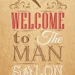 Poster Barbershop welcome to msalon — Stock Vector #32894237