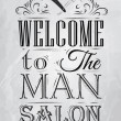 Poster Barbershop welcome to msalon — Stock Vector #32894249