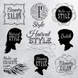 Haircut and make-up Style Set — Stock Vector