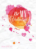 Be my Valentine — Stock Vector