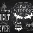 Stock Vector: Menu for wedding