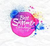 Best summer holidays — Vecteur