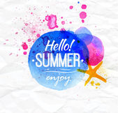 Hello summer, enjoy — Stock Vector