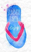 Summer party invitation — Stock Vector