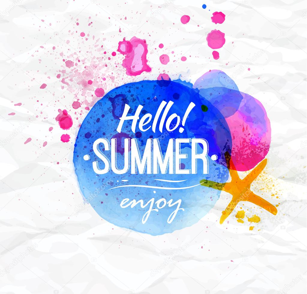 Hello summer, enjoy — Stock Vector © anna42f #41346429