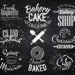 Bakery characters chalk — Stock Vector #43831085