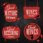 Watercolor Wine Cask chalk — Stock Vector #45155309