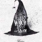 Постер, плакат: Witch hat halloween poster vintage
