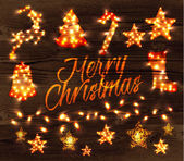 Christmas set garland — Stock Vector