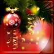 Christmas background with christmas tree. — Stock Vector #13690774