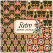 Set of four retro seamless patterns — Stock Vector #13690845
