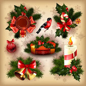 Vector collection of christmas items — Stock Vector