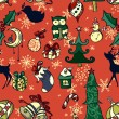 Vector christmas seamless pattern — Stock Vector