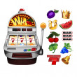 A slot fruit machine — Stock Vector