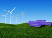 Solar and Wind Power II — Stock Photo