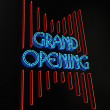 Grand Opening Sign — Stock Photo