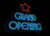 Grand Opening Sign II — Stock Photo