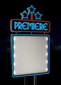 Neon Premiere Sign — Stock Photo