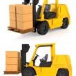 Fork Lift Trucks — Stock Photo