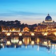 River Tiber in Rome - Italy. - Stock Photo