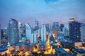 Makati manzarası, (metro manila - filipinler) — Stok fotoğraf